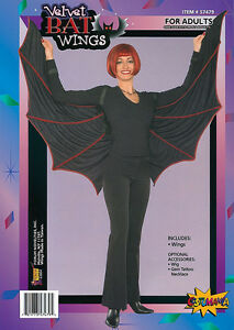 Velours-Chauve-Souris-Ailes-Dracula-Vampire-Accessoire-Deguisement-Halloween