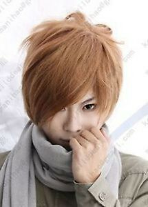 Death-Note-Light-Yagami-Short-Brown-Cosplay-party-Wig