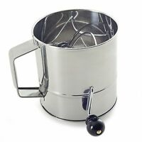 Norpro Polished 3-Cup Stainless Steel Hand Crank Sifter New Kitchen on Sale