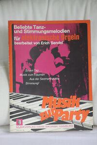 Notenheft-Musik-zur-Party-Tanz-und-Stimmungsmelodien-elektr-Orgel-Sikorski-734