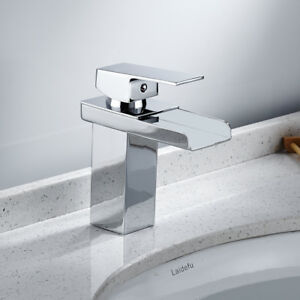 Robinet mitigeur lavabo cascade moderne chrome-Robinetterie   eBay f2a699a197d8