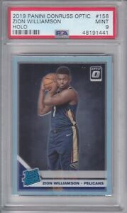 2019-Panini-Donruss-Optic-Zion-Williams-Holo-Rated-Rookie-158-PSA-9-Mint