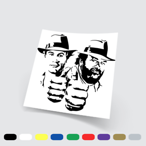 Adesivi Murali Adesivo in vinile Bud Spencer e Terence Hill Wall Stickers
