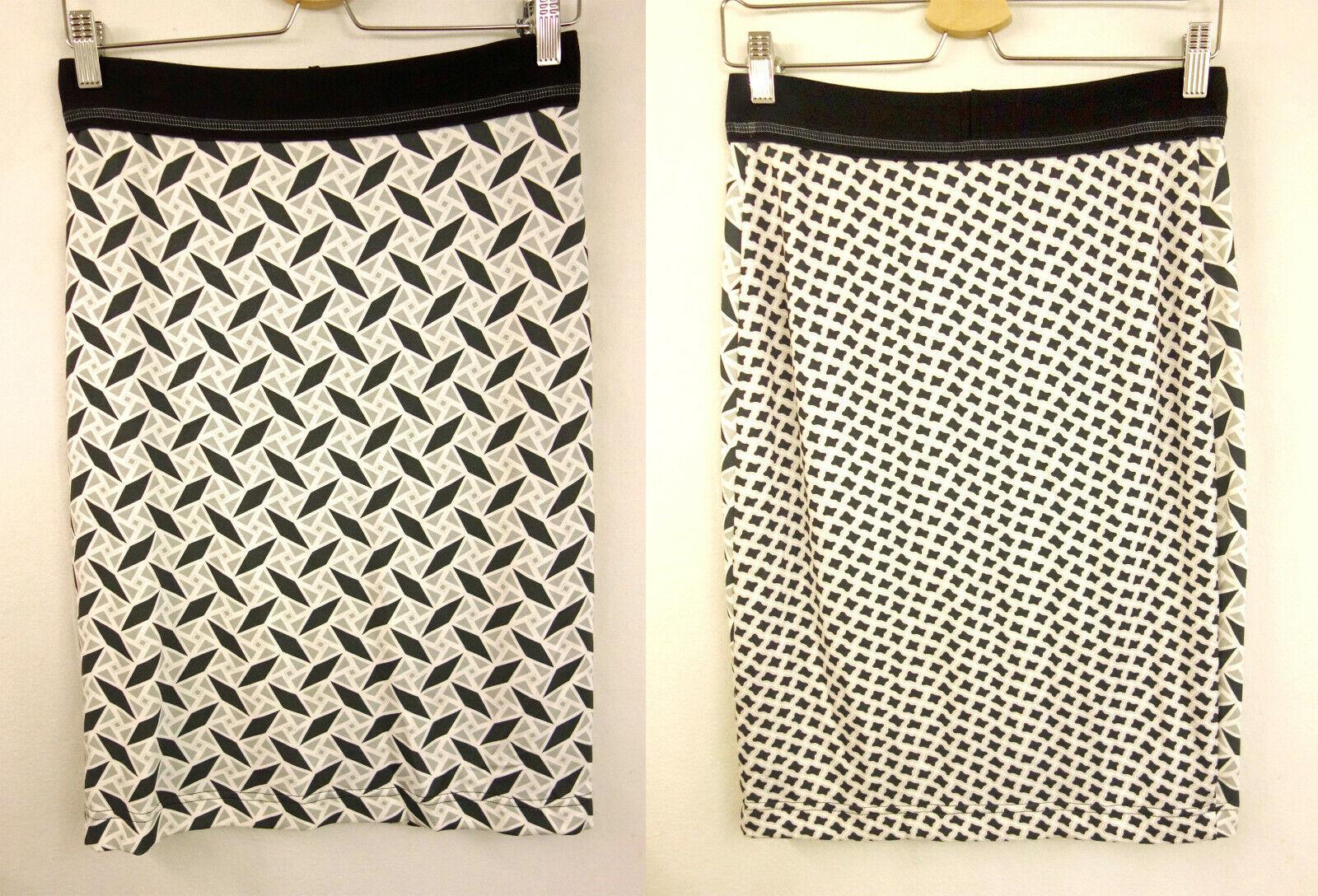 179 NEW Riani RR Designer Pencil Skirt Size 36 Skirt Grey White Pink Black