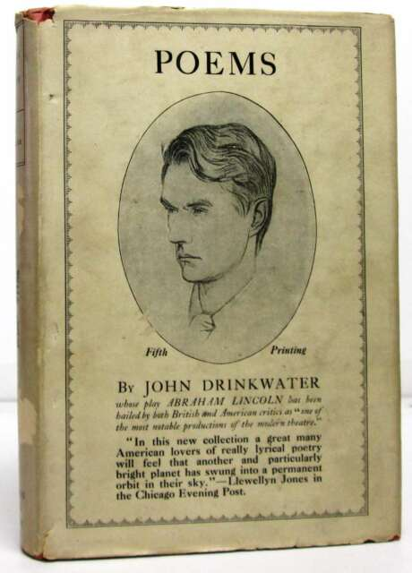 Poems, 1908-1919.Drinkwater, John.Signed.Book.Very Good