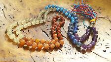Gemstone Crystal 7 CHAKRA Japa MALA Prayer Reiki Healing BEADS 108 Hand Cut