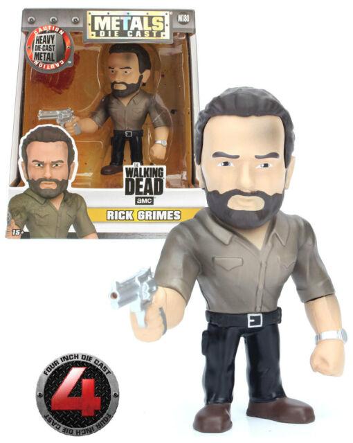 "Jada Metals Die Cast M180 4"" The Walking Dead - Rick Grimes - New Mint Condition"