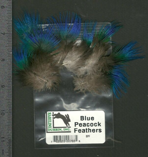 Hareline India Blue Neck Feathers 10 Pack Earrings/Fly Tying/Millinery