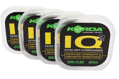 All Strains Korda Carp Fishing IQ2 Soft Fluorocarbon Hooklink Material