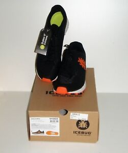 Icebug-ORIBI3-M-RB9X-Black-Pumpkin-Sneaker-Spotschuh-Turnschuh-Groesse-45