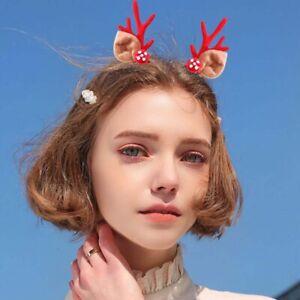 Cute-Christmas-Elk-Horn-Antler-Deer-Hair-Clips-Hairpin-Reindeer-Deer-Ear-Party