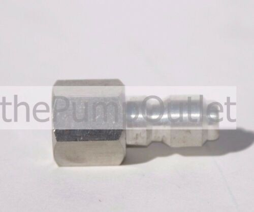 """1//4/"""" FPT x 1//4/"""" Male Quick Connect Stainless Steel Pressure Washer Fitting .25"""