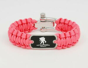 Details About Wounded Warrior Project Paracord Survival Bracelet Pink By Straps