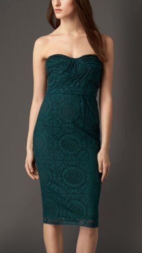 Burberry potlood Engelse kanten jurk Sonya 2 Strapless London Midi QdsChtr