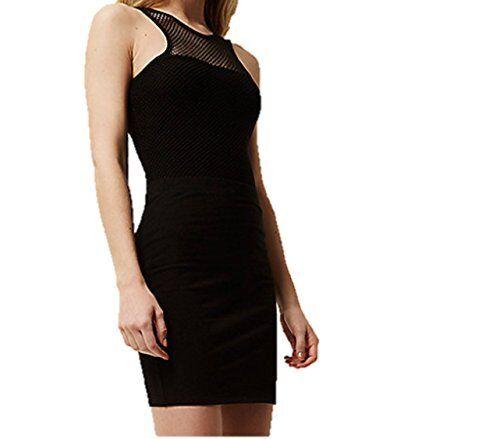 Ladies Ex Famous Store Denim Black Mini Womens Skirt