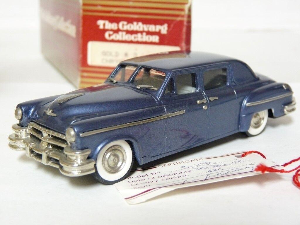 goldvarg 3 1 43 1951 Chrysler Imperial Limousine Handmade White Metal Model Car