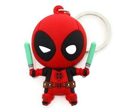Marvel Collectors Figural Keyring Series 2 Deadpool 3 Inch Madcap