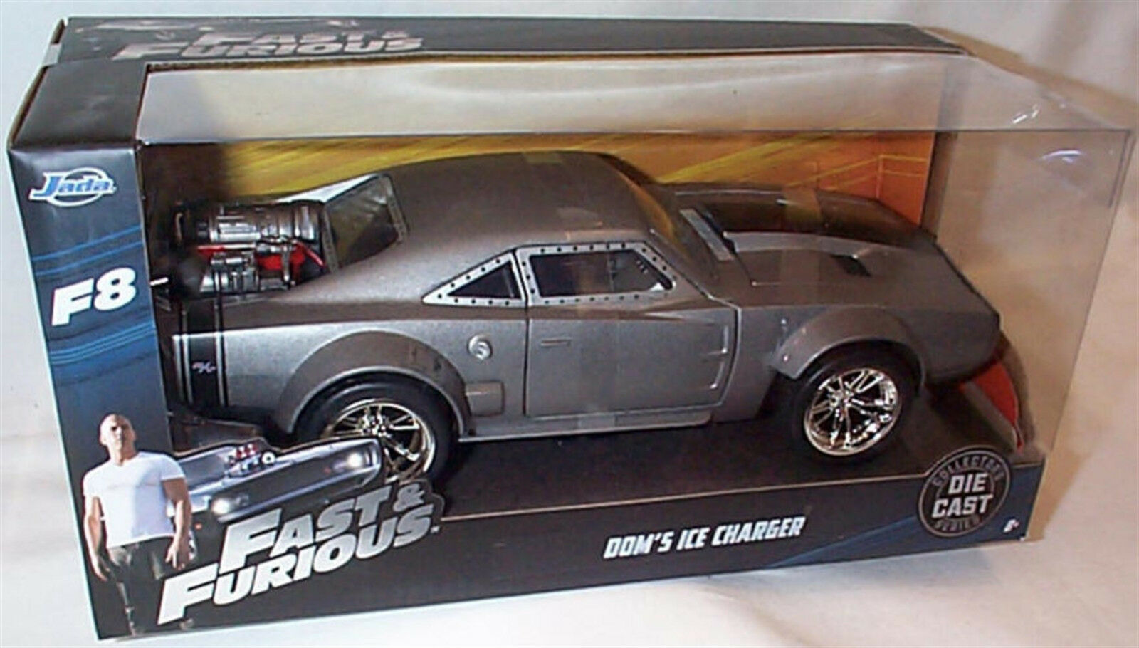 FAST & FURIOUS 8 DOM'S ICE CHARGER 1 24 SCALE DIECAST OPENING FEATURES by JADA
