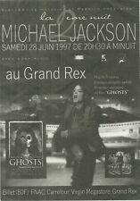 RARE / FLYER - MICHAEL JACKSON : EN CONCERT LIVE A PARIS ( FRANCE ) 1997