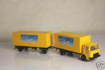 Wiking H0 Nr: 25551 Post-Koffer-Lastzug MAN  (RO16)