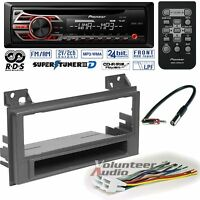 Pioneer CD Player PKG Chevrolet S10 GMc Sonoma Radio Install Dash Kit + Harness