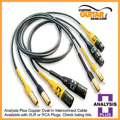 Analysis Plus Oval One RCA interconnect pair 2.0M New