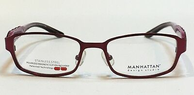 Mdx Manhattan Design Studio S3274 W Magnetic Clip On Women S Eyeglasses New Ebay