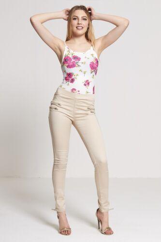 NEW WOMEN SKINNY BIKER HIGH WAISTED JEGGINGS//LEGGINGS//TROUSERS SIZE 6//8//10//12//14