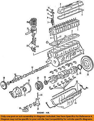 bronco engine diagram ford oem 84 91 bronco engine crankshaft crank seal e7az6701a ebay  ford oem 84 91 bronco engine crankshaft