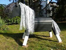 60cm Holzpferd Holzpony Voltigierpferd Pferd Pony Pinto mit Maul wetterfest !!