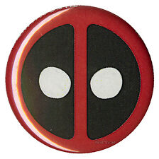 "NEW Marvel Comics DeadPool Dead Pool Mask Logo 1 1/4"" Button Pin Red White Black"