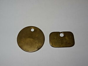 Pair-Of-Brass-Miners-Lamp-Pay-Check-Pit-Tally-Token-Warsop-Colliery-984