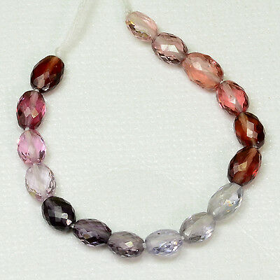 GEM Multi Burmese Spinel Faceted Oval Nuggets Beads 3.6 inch strand