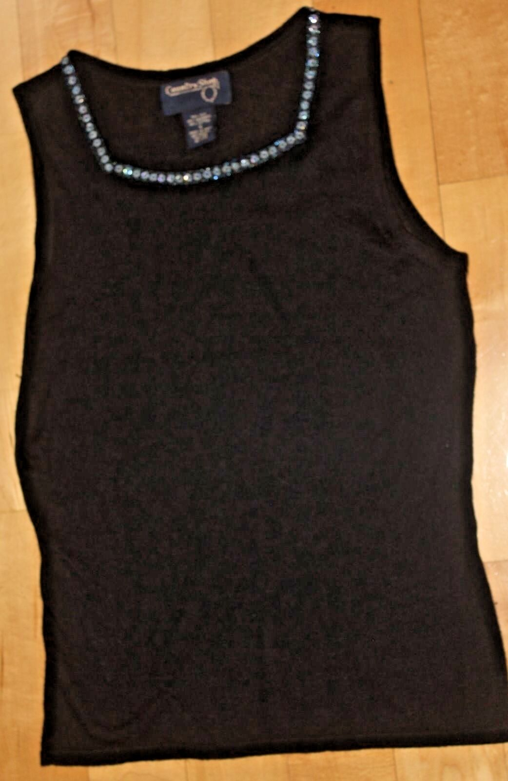 COUNTRY SHOP SHOP SHOP WOMEN'S SLEEVELESS SILK AND CASHMERE SWEATER SIZE S 7b7626