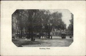 Reading-MA-Common-Trolleys-c1910-Postcard