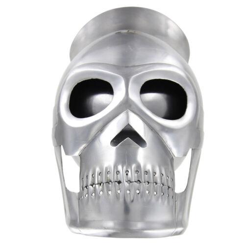 Medieval Knight Fantasy Skull 18 Gauge Training Costume Helmet