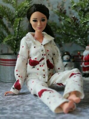 Flannel Pajamas for Dolls. №185 Clothes for Barbie Doll