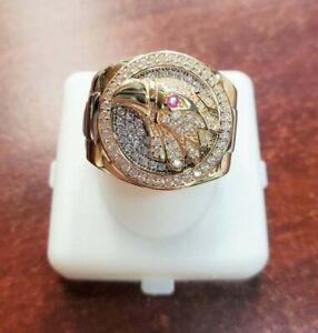 1.55 ct Round Sim Diamond Men/'s World Map Customized Ring 14k Yellow Gold Plated