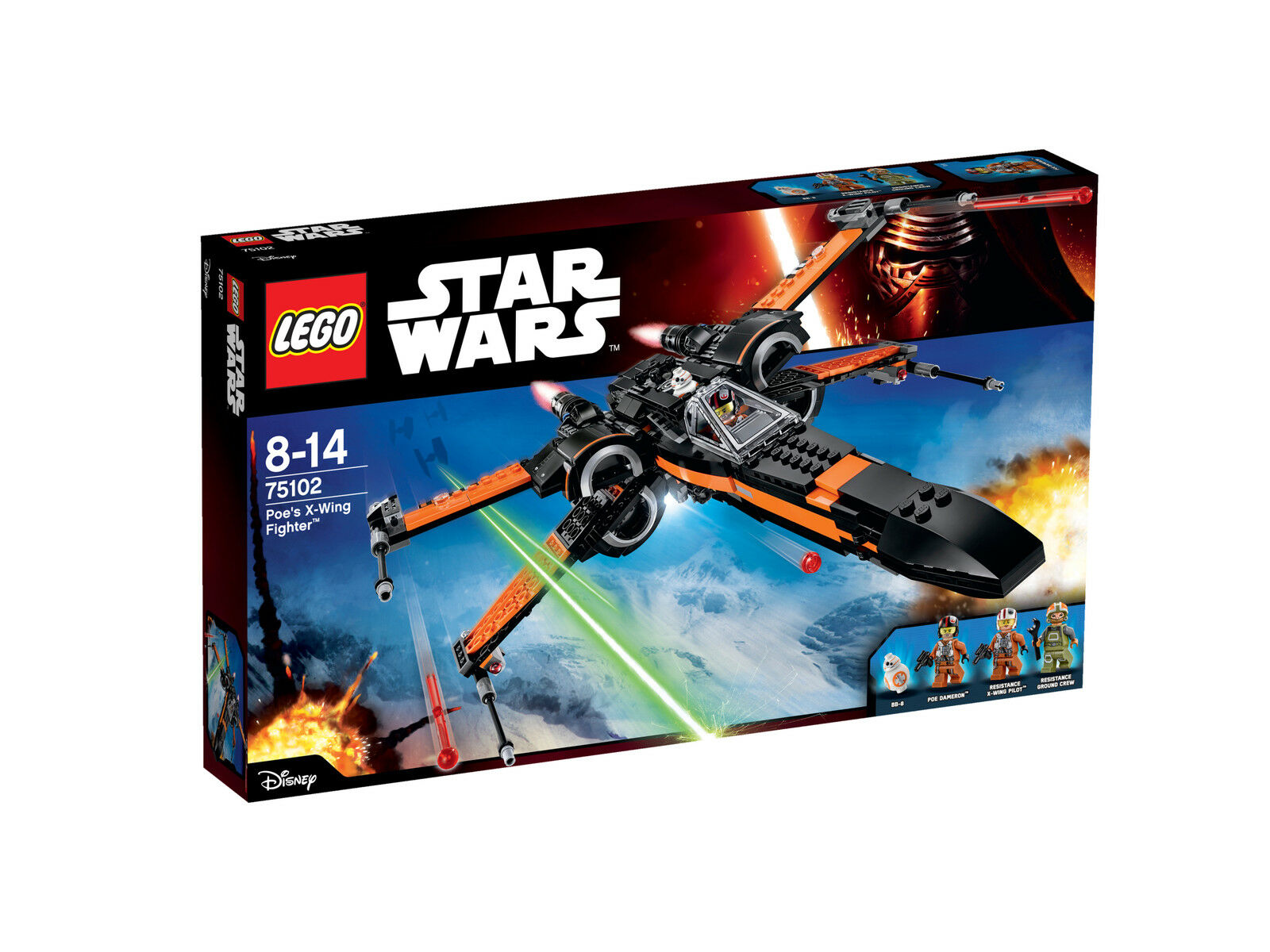 LEGO Star Wars Poe's X-Wing Fighter 75102 Building Kit NEW NIB 2015 RetiROT