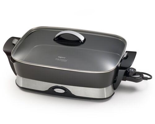 New Skillet Presto 06857 16-Inch Electric Foldaway Skillet Black Frying Pan Home
