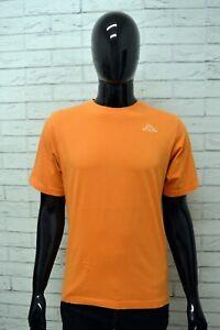 Maglia-KAPPA-Uomo-Taglia-M-Maglietta-Shirt-Man-Manica-Corta-Cotone-Arancione