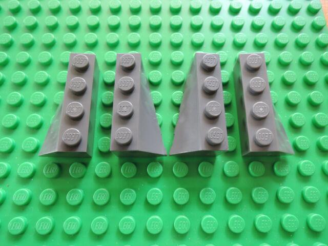Lego 4 x Keilstein Schrägstein 41747 41748 6x2 = 2 Paar neu dunkelgrau