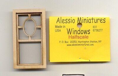 Amichevole Mezza Scala - Prairie Ovali Finestre 2181hs Legno Casa Delle Bambole Miniatura Ampia Selezione;