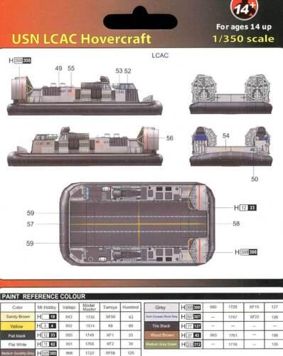 MRC 2x U.S.Navy USN LCAC Hovercraft 1:350 Modell-Bausatz Luftkissenboot NEU kit