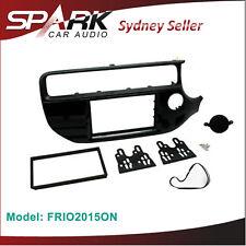 CT23KI53 Car Stereo Double Din Facia Panel Adaptor Gloss Black For Kia Rio 2015/>