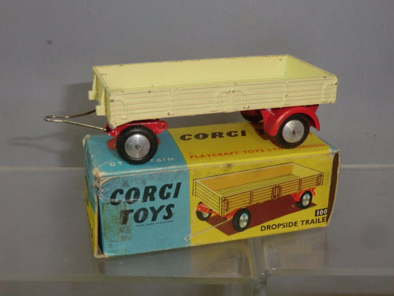 Corgi spielzeug modell no.100 dropside wohnwagen im mib