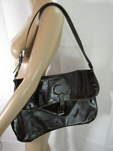 825d2c0d4cce29 Image is loading Prada-Large-Brown-Patent-Leather-Crossbody-Messenger-Bag