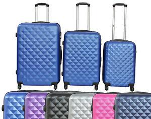 Juego-o-set-3-Maletas-de-4-ruedas-rombo-Equipaje-viaje-3-Piezas-Trolley-colores