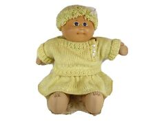 "Caucasian Girl Cabbage Patch Kids 11/"" Pink Retro Baby Blonde Hair Blue Eyes"