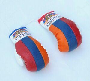 ARMENIA COUNTRY FLAG MINI BOXING GLOVES . NEW